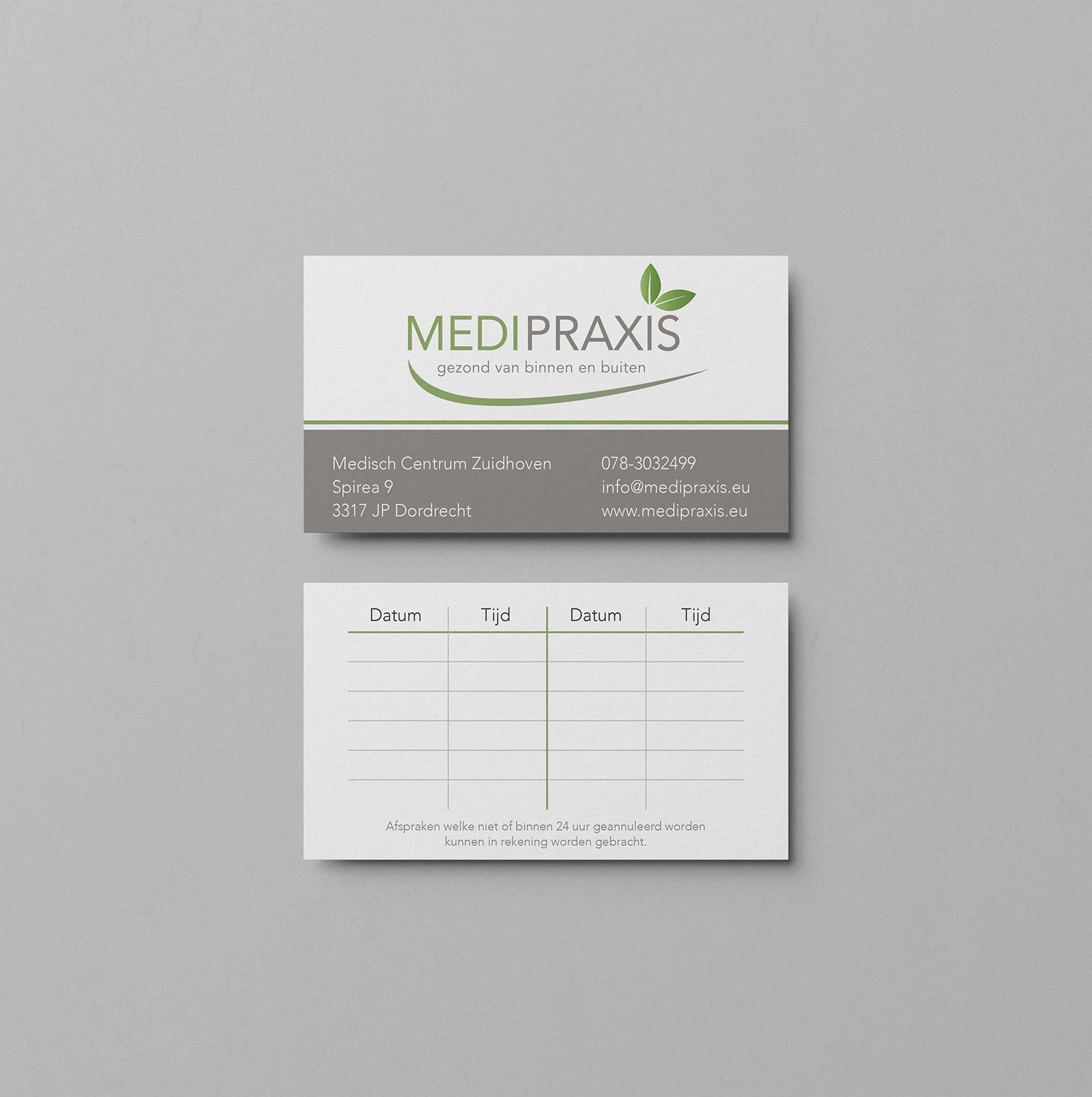 Visitekaartje Medipraxis